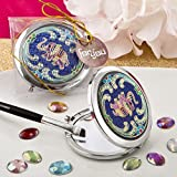 Indian Elephant Blue Metal Compact Mirro...