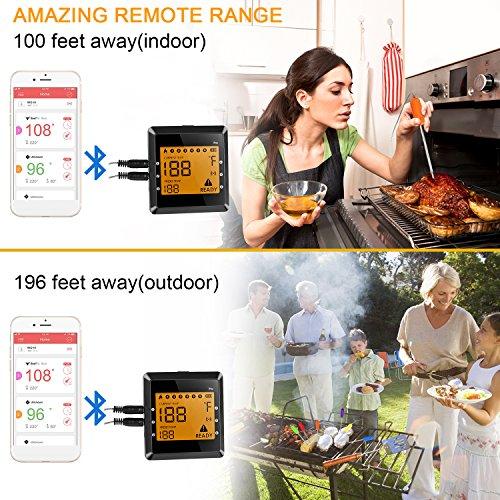 Zoom IMG-1 termometro cucina sonda wireless bluetooth