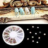 Nail Art Decoraciones 60pcs Mujeres Diamantes de uñas multicolor perlas brillantes Niñas uñas jelwery
