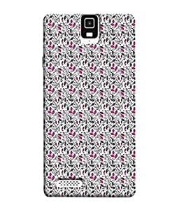 PrintVisa Designer Back Case Cover for Infocus M330 (Pink screeps dark screeps)