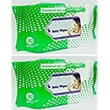 Baby Wet Wipes Enriched With Aloe Vera-Jojoba & Vitamin E (160 Wipes) Pack Of 2