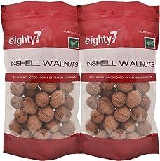Eighty7 California Inshel Whole Walnut - Pack of 2(600 gms Each), 1.2kg