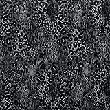 Fabulous Fabrics Pannesamt Leoparden Druck extra weich – grau — Meterware ab 0,5m — zum Nähen von Kleidern, Röcken und Tops und Shirts