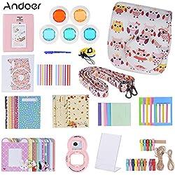 Andoer 14 en 1 Kit d'accessoires pour Fujifilm Instax Mini 8/8 + / 8 s w / caméra cas/sangle/autocollant/Selfie lentille/filtre/Album/Film Table image/Tenture murale Frame/Pen (#5)