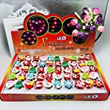 Coollooda Kids Party Supplies Christmas Flashing Brooch Pins LED Brooch Flashing Light Brooch - 50PCS 50pcs
