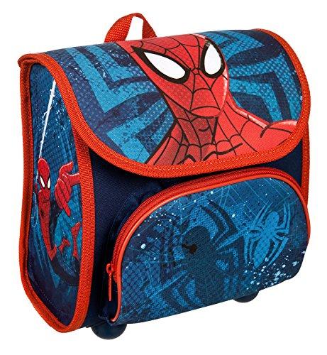 Scooli SPJU8240 - Vorschulranzen Cutie mit Klettverschluss, ergonomisch, leicht, Marvel Spider-Man, ca. 4,5 Liter