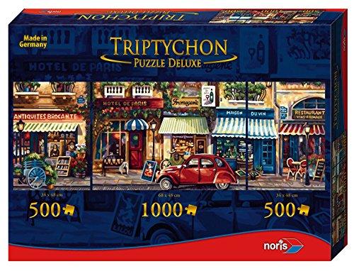 Preisvergleich Produktbild Noris Spiele 606031002 - Triptychon Puzzle Deluxe - Paris, 2000 Teile