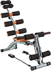 SCROSS Six Pack Ab-Machine Abdominal Exerciser Equipment - Black