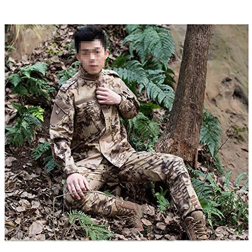 XXHDYR Tarnuniform Trainingsanzug Wüste Jagd Schießen Dschungel versteckt Jagd Sport Wandern Reiten Tarnanzug 2 Sätze Tarnen (Size : S(170-175)) -