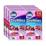 Huggies DryNites Girl hochabsorbierende Pyjamahosen Unterhosen für Mädchen 8-15 Jahre, 3er Pack (3x 9 Windeln) Vergleich