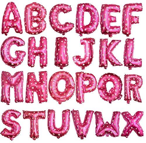 Preisvergleich Produktbild HS 40CM Pink mit weißen Herz Folienballon Buchstaben m Lufterfüllung 91566