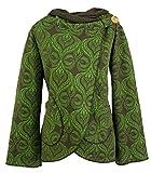 Guru-Shop Cape Boho Wickeljacke, Damen, Grün, Baumwolle, Size:L (40), Boho Jacken, Westen Alternative Bekleidung