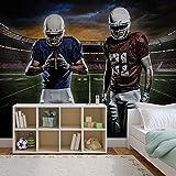 American Football Stadion - Wallsticker Warehouse - Fototapete - Tapete - Fotomural - Mural Wandbild - (1110WM) - XL - 208cm x 146cm - VLIES (EasyInstall) - 2 Pieces