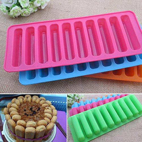 JIALI DIY auch Streifen aus weichem Silikon Backform Hochtemperatur-Keks Backen Finger Muffin Cup