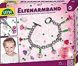 Lena 42704 - Bastelset Elfenarmband, Schmuckbastelset für ein Perlenarmband mit Gliederarmband, Rocailles, Facettenperlen und Blütenperlen, Set zum Schmuckarmreif basteln für Kinder ab 8 Jahre