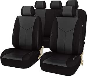 Car Pass 11 Elegante Luxus Pu Leder Automotive Universal Sitzbezüge Set Package Universal Fit Für Fahrzeuge Mit 5 Mm Composite Schwamm Innen Airbag Kompatibel Auto