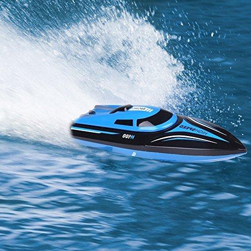 SainSmart Jr. RC Boot Speedboot RC Ferngesteuertes Boot High-Speed Rennboot, 4CH 2.4 Ghz 20 km/h Großfunkgesteuertes Boot Racing Boot für Anfänger und Kinder -