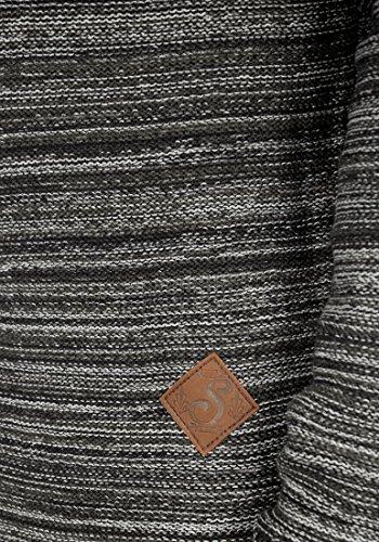 SOLID Macall Herren Kapuzenpullover aus 100% Baumwolle Meliert Black (9000)