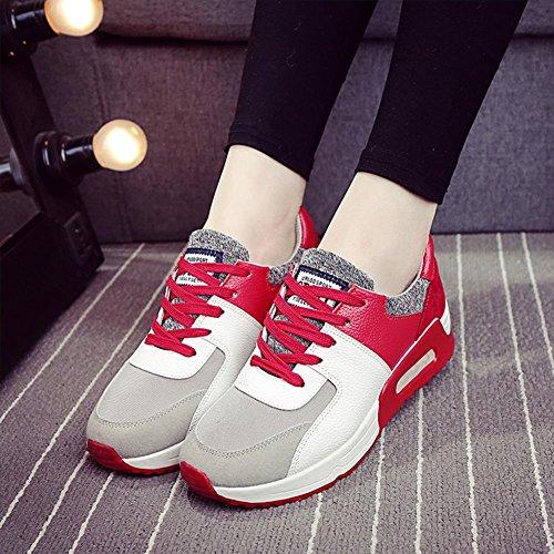 Damen / Mädchen Sport Casual Schuhe Frühjahr / Sommer / Herbst Mode Lace-up flachen Sneaker Red