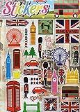 3d london BigBen Inglaterra Tower Bridge Multicolor 1hoja 250mm x 200mm Pegatinas Manualidades Niños Fiesta