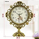 Europea relojes-bronce antiguo reloj grande de la vida mesa de silencio reloj High-End moderno...