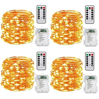 Luces de Cadena LED, InteTech [2 Pack] luces de hadas de hilo 8 modos 50 LED 16.4ft impermeable cuerda luces de alambre de cobre luces de cadena para la cena de banquete de bricolaje decoración interi