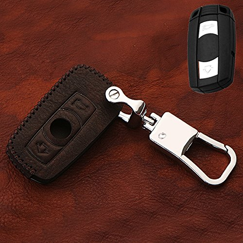 X6'7 (HIGH FLYING für X5 E70 07-13/X6 E71 08-14/E87 1er 08-11/E90 3er 08-12/E60 5er 06-09/Z4 E89 09-15 Leder Schlüsselanhänger 1 Stück (Coffee Color))