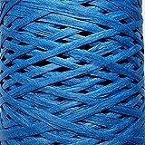 10m Bast-Band, 24Farben Mit, entfaltet sich bis 35mm, 100m-Rolle, 1/4, 7–9mm, für Blumen, Geschenke, zum Basteln blau