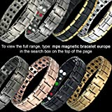 MPS® EUROPE Classic Titanium Magnetic Bracelet with Fold-Over Clasp, Powerful 3,000 gauss Magnets + Free Gift Wallet + FREE Links Removal Tool Bild 2