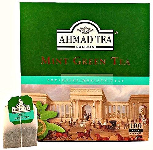 Ahmad Tea- Mint Green Tea 100 St. Grüner-Beutel-Tee á 2 Gramm mit Band