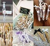 Cubewit boda varita tubo de la burbuja corazón favor de la boda mesa decoración accesorios de fiesta (30er)