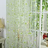 Generic 5 Colors Scarf Sheer Voile Door Window Curtains Drape Panel Valance Curtains (Light Green)