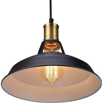 Métal Retro Suspensions Luminaires S G Industriel Edison Simplicité Lustre  Vintage Plafonnier Suspension avec Abat-jour b95f96bb3e13