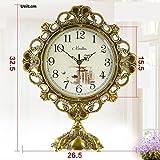 Europea relojes-bronce antiguo/reloj grande de la vida/mesa de silencio reloj/High-End moderno jardín reloj