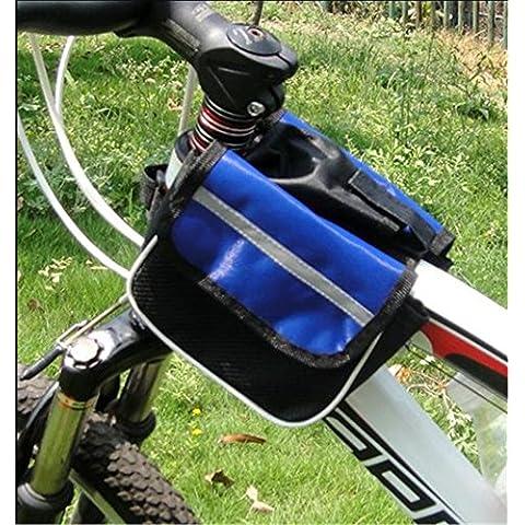 JSH bolso de la bicicleta con el bolsillo del teléfono celular antes de montar la bicicleta Accesorios Equipo