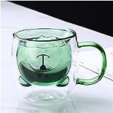 Tasse à thé ours mignon tasse à café au lait à double paroi en verre avec poignée tasse à bière espresso isolée cadeau d'anni