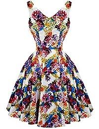 Hearts & Roses London Blumenmuster Prinzessin Retro Vintage 1950s Ausgestellt Party Nachmittagskleid Hervorragende Qualität