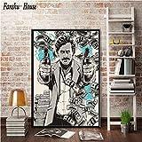 wojinbao Kein Rahmen ALEC Monopole Pablo Escobar Tapete HD leinwand Poster drucken wandkunst /ölgem/älde dekorative malerei Moderne Dekoration 60x90 cm