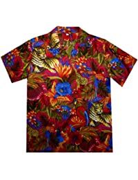 Original King Kameha   Funky Camisa Hawaiana Señores   XS-12XL  Manga Corta Bolsillo Delantero   impresión De Hawaii  Jungle  diferentes colores