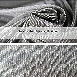 Strahlungsbeständiges Silberfasergewebe, DIY kann als Maschinenraumvorhang elektrische Abdeckung Kleidung Decken wirksame Abschirmstrahlung verwendet werden, sorgt für ein gesundes Leben,70cmx150cm