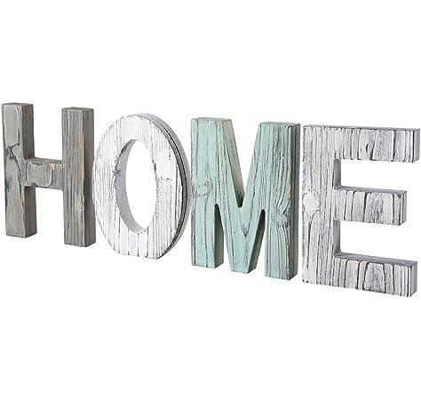 GRIGIO patinato Colore Lettere decorative da parete o da tavolo HOME
