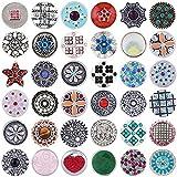 Morella 36 Click-Buttons Set Knöpfe Chunks Steine für Armbänder Ringe und Halsketten Glitzer Mix 20 mm kompatibel