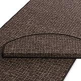 Teppich Läufer | schoko gekästeltes Muster | Qualitätsprodukt aus Deutschland | GUT Siegel | kombinierbar mit Stufenmatten | viele Breiten und Längen (300 x 350cm)