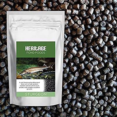 Heritage Sturgeon Sterlet Fish Food Pellets Premium Sinking Pond Feed Tench Koi 4.5mm