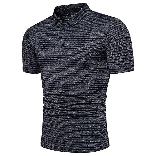 Morran Herren Poloshirt Kurzarm Patchwork Sommer T-Shirt Men's Polo Shirt Männer Tees Top M L XL 2XL 3XL