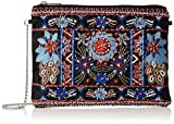 New Look Women's Bright Embroidered Clutch Black (Black Pattern)