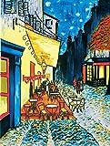 Cafe by Night ~ Einzigartige und schöne Handbemalt Keramik Fliesen, Home Deko Wandschild 15,2x 15,2cm