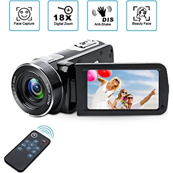 Digital Camcorder with IR Night Vision, Weton 1080P Full HD Digital Video Camera 24.0Mega Pixels 18X Digital Zoom Video Camera (Two Batteries included)