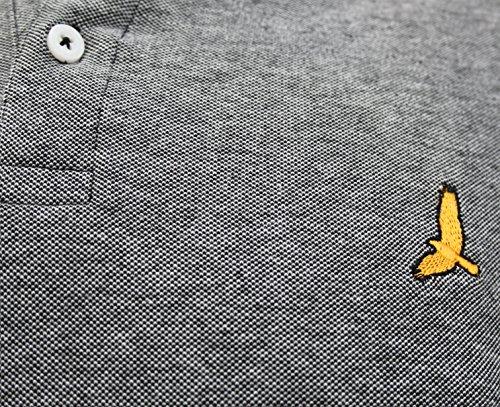 Herren Short Sleeve Birdseye Piqué Baumwolle Polo-Shirt (Dahlia) von Brave Soul (S-XL) Mehrfarbig - Schwarz / Weiß