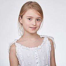 Amberta Designer Halskette - Feine Kette für Kinder - Sterling Silber 925 - Verschiedene Stile - Länge 36 cm